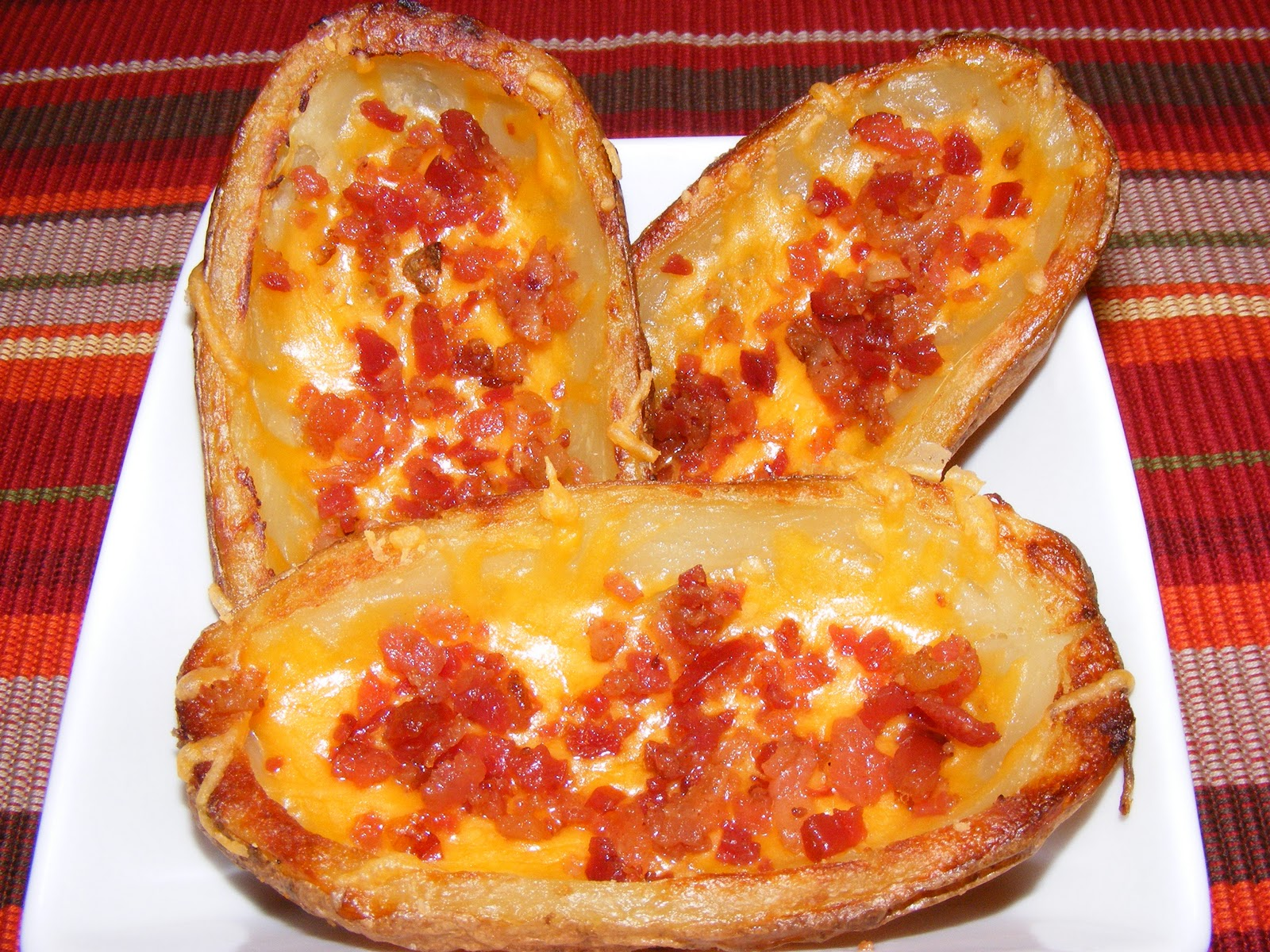 POTATO SKINS (Cheddar & Bacon)